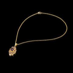 紫晶漆花项链 货号111465