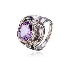 灵动紫水晶戒指 货号113008