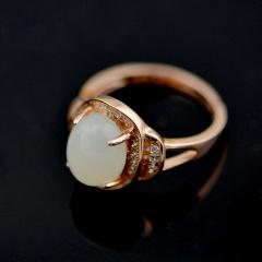 繁诺和田白玉戒指 货号113785