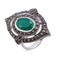 MARC皇室典雅绿玛瑙戒指
