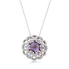 Chateau太阳花紫晶项链 货号114178