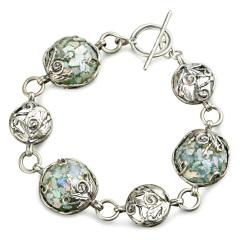 Zuman玻璃圆形手链 货号114442