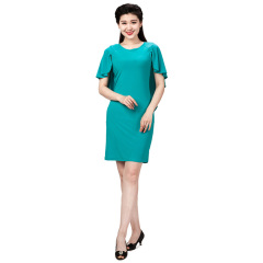 N.L女式针织波浪袖连衣裙  货号117153