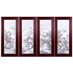 《瑞雪迎春》雪景瓷板珍藏 货号121499