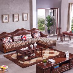 富阁美式豪华实木客厅套组 货号121845