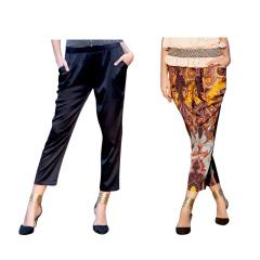 今昇时尚蚕丝裤两条组