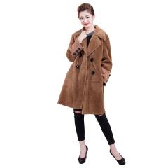 ZR女士双面穿羊毛大衣  货号124132