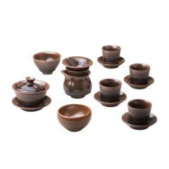 杨敏大师手作建盏茶具珍藏