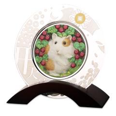 2020鼠年高浮雕彩色银盘珍藏
