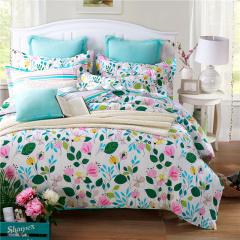 VIPLIFE家纺 优雅田园风全棉四件套纯棉床单被套床品套件