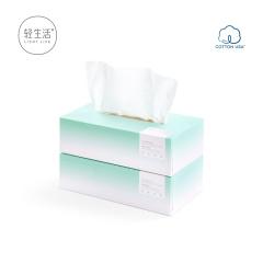 轻生活纯棉巾200*200mm*80抽/盒*2盒装