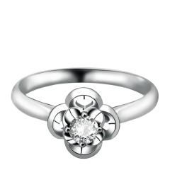 芭法娜 爱情四叶草 法式简约Pt950钻石戒指(女戒)