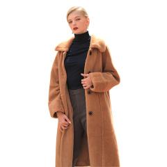 娜雅梦露经典两面穿羊毛大衣
