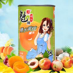 魁牌糖水黄桃罐头425克*6罐