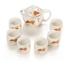 金镶玉 功夫茶具 清风鸣蝉套组 陶瓷茶壶茶杯带过滤整套