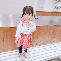 菲儿小屋 2020韩版秋季新款0-4岁长袖裙子打底裤两件套女可爱童装