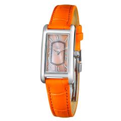 COGU时尚休闲真皮女表方形石英表时尚潮流防水女表钢带时装表