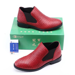 2020春夏季新品手工编织男式皮靴子shoes men男靴马丁靴男士切尔西靴男