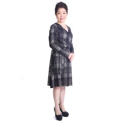馨蒂.玛长袖包裹式长裙 货号107368