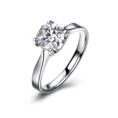 DODOBEL WOMEN 18K金白色经典永恒天然钻石钻戒14分