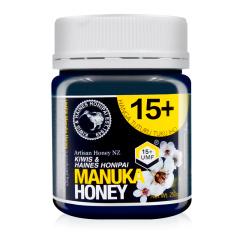 基维氏新西兰UMF15+麦卢卡蜂蜜(250g)*2瓶  送基维氏百花蜜(250g)*2瓶
