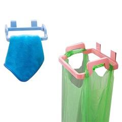 门背式垃圾袋塑料挂架抹布挂架 2个装
