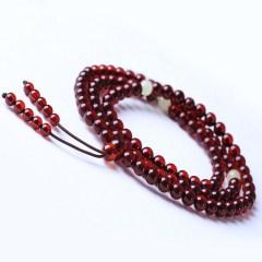 琳福珠宝  波罗的海蜜蜡血泊血珀手串108颗佛珠