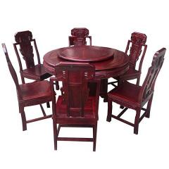 世锦豪庭非洲酸枝餐桌套组