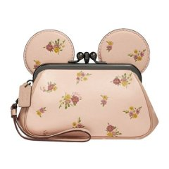 Coach Disney X Minnie Mouse Kisslock Ear Wristlet