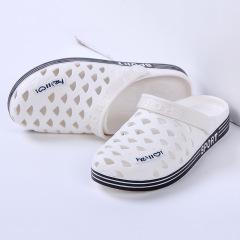 夏季洞洞鞋女凉拖鞋沙滩鞋包头拖鞋女式平底透气防滑凉拖鞋女新款