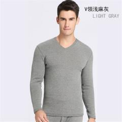 澳洲羊驼绒男士保暖内衣套装加绒加厚秋冬季纯色棉毛衫不倒绒