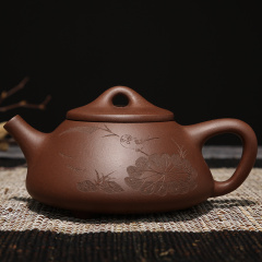 千寿堂 紫砂壶茶具茶壶全手工 石瓢壶宜兴紫砂茶具套装