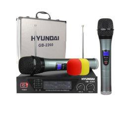 韩国现代 无线一拖二麦克风 话筒网络K歌电容唱吧KTV家用商用教学