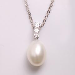 DODOBEL WOMAN 925银天使镶嵌珍珠吊坠 送项链