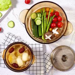 康宁 锅餐套组 双耳2.25L+琥铂色餐具6件套组(VS-22OV6/CL)