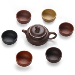 金镶玉功夫茶具 福在眼前 紫砂茶具整套装