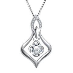 芭法娜 唯美 法式简约PT950钻石吊坠
