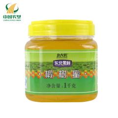 【中国农垦】北大荒 黑龙江农垦 东北黑蜂蜜 成熟蜂蜜 椴树蜜1kg