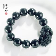 鼎云轩珠宝 和田玉青玉貔貅手串