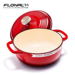 FLONAL珐琅铸铁汤锅 加厚炖锅全炉灶通用23cm
