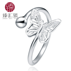 臻汇银S990开口蝴蝶戒指