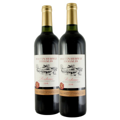 法国原瓶进口爱威堡碧佳利干红葡萄酒750ml*2瓶