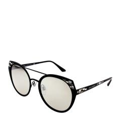 BVLGARI/宝格丽 女士黑色圆形珐琅装饰镜框时尚太阳镜 OBV6095 20266G 53