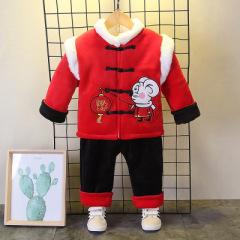中式 1~3岁婴幼童鼠宝宝/流苏单排扣年服 2019秋冬加厚两件套