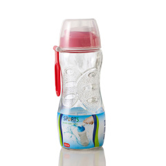 SIMELO首尔风情玻璃杯收腰杯便携水杯 红色500ml