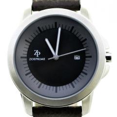 卓派ZOEPRIME石英黑色表盘男士手表腕表