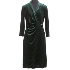 CELLE西琳优雅丝绒连衣裙  货号123949