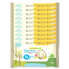 韩国原装进口木之惠Living芦荟婴儿湿巾10包装