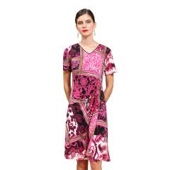 DS古丝珐琅印花裙