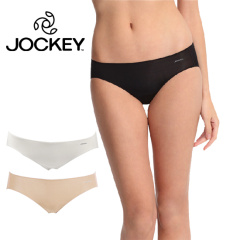 Jockey  女超细莱卡无痕三角内裤2条超值组